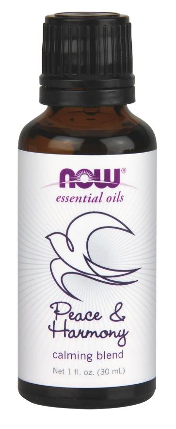 NOW Foods Essential Oil, Peace & Harmony Oil Blend - 30 ml.