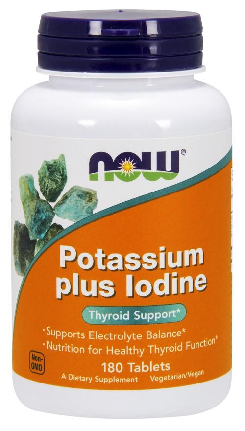 NOW Foods Potassium plus Iodine - 180 tablets