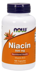 NOW Foods Niacin, 500mg - 100 caps