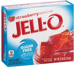 Jell-O Sugar Free Gelatin Dessert, Strawberry - 8.5 grams