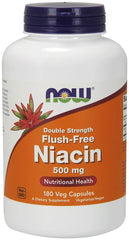 NOW Foods Niacin Flush-Free, 500mg (Double Strength) - 180 vcaps