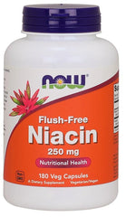 NOW Foods Niacin Flush-Free, 250mg - 180 vcaps