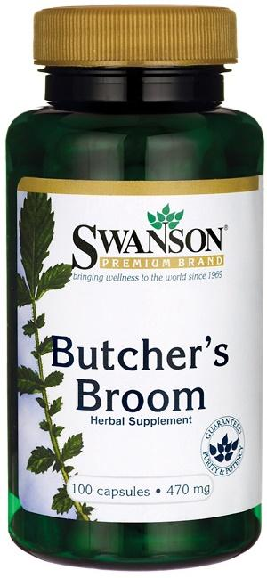 Swanson Butcher's Broom, 470mg - 100 caps