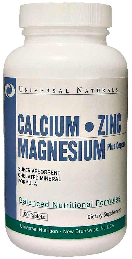 Universal Nutrition Calcium, Zinc and Magnesium - 100 tablets