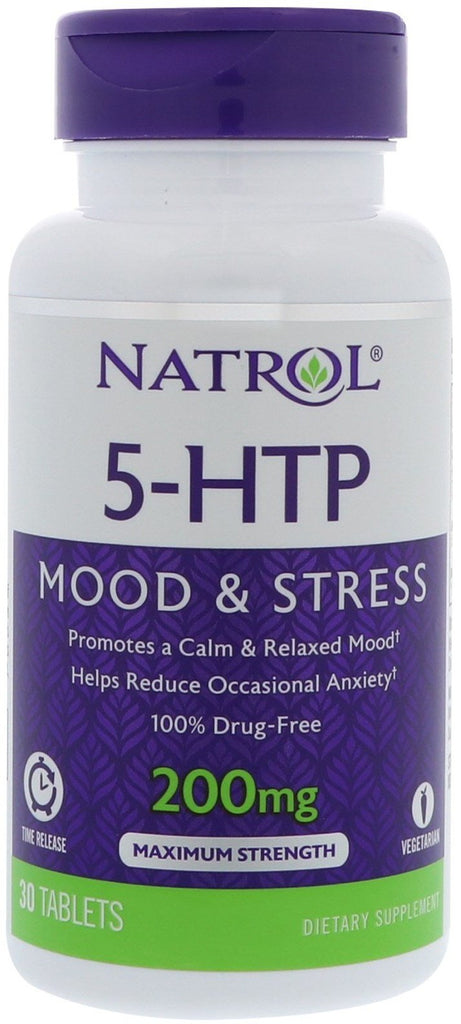 Natrol 5-HTP Time Release, 200mg - 30 tablets