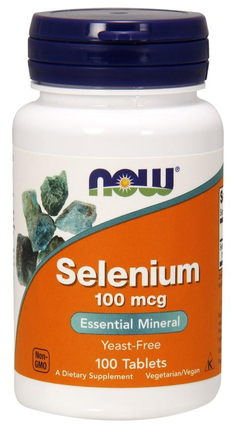 NOW Foods Selenium, 100mcg - 100 tablets