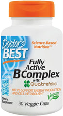 Doctor's Best Fully Active B-Complex with Quatrefolic- 30 vcaps
