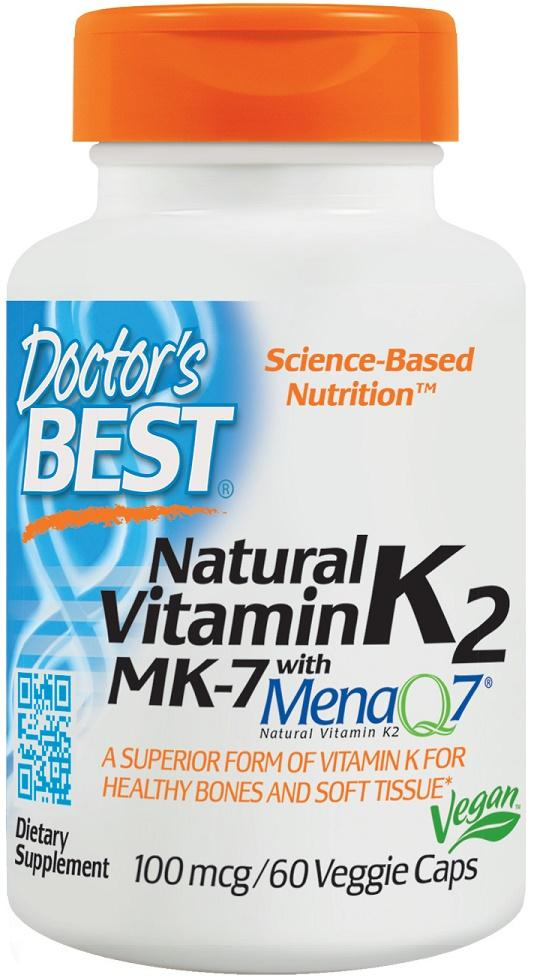 Doctor's Best Natural Vitamin K2 MK7 with MenaQ7, 100mcg - 60 vcaps