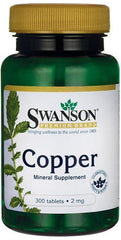 Swanson Copper, 2mg - 300 tablets