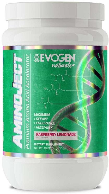 Evogen AminoJect Naturals, Raspberry Lemonade - 480 grams