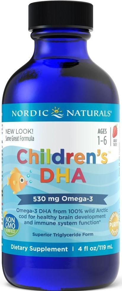 Nordic Naturals Children's DHA, 530mg Strawberry - 119 ml.