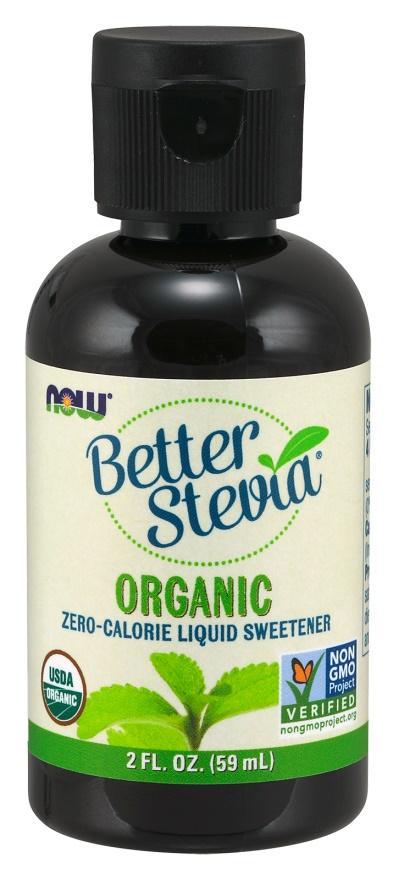 NOW Foods Better Stevia Liquid, Organic - 59 ml.