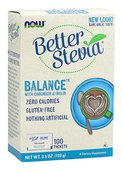 NOW Foods BetterStevia Balance with Chromium & Inulin - 100 packets