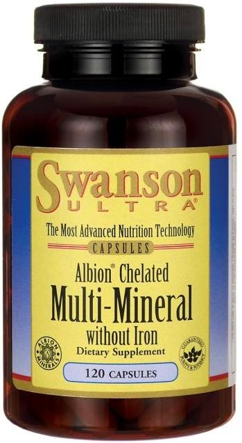 Swanson Albion Chelated Multi-Mineral without Iron - 120 caps