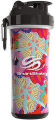 SmartShake Double Wall Shaker Cup, Flower Power (Tropical Red) - 750 ml.