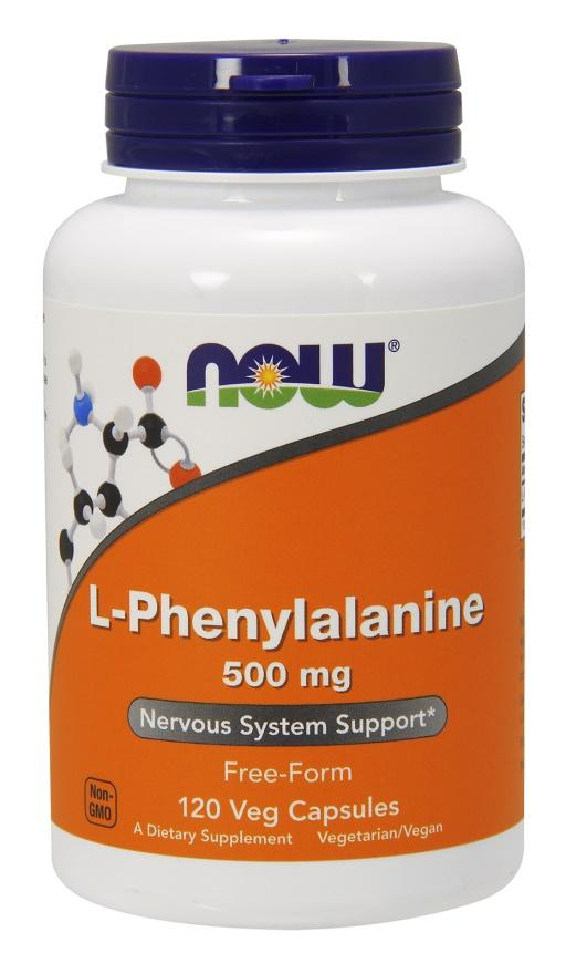 NOW Foods L-Phenylalanine, 500mg - 120 vcaps