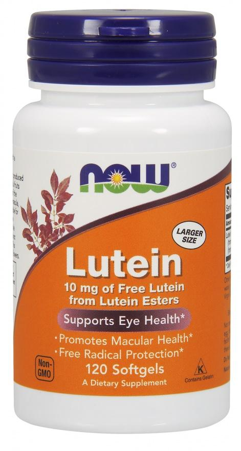 NOW Foods Lutein, 10mg - 120 softgels