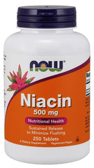 NOW Foods Niacin, 500mg - 250 tablets