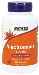 NOW Foods Niacinamide, 500mg - 100 caps