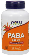 NOW Foods PABA, 500mg - 100 caps