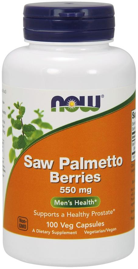 NOW Foods Saw Palmetto Berries, 550mg - 100 vcaps