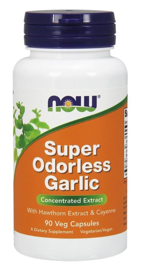 NOW Foods Super Odorless Garlic - Concentrated Extract - 90 vcaps