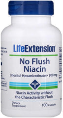 Life Extension No Flush Niacin, 800mg - 100 caps