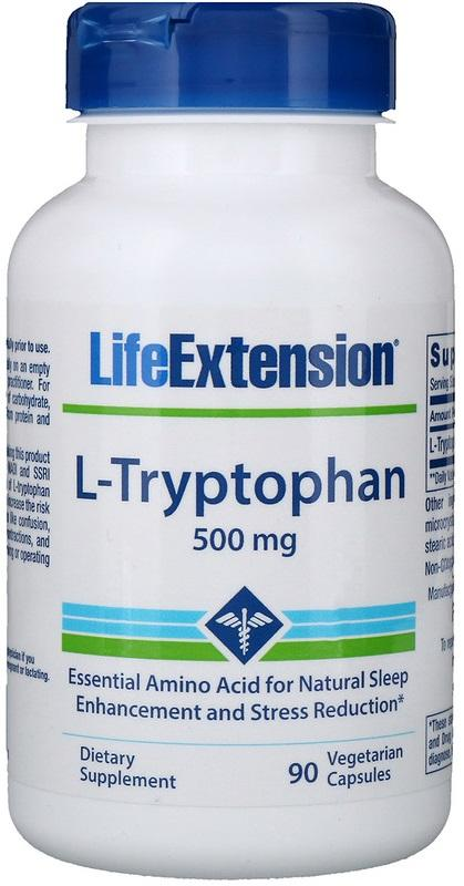 Life Extension L-Tryptophan, 500mg - 90 vcaps