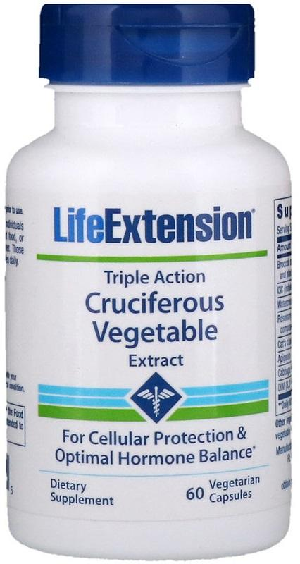 Life Extension Triple Action Cruciferous Vegetable Extract - 60 vcaps
