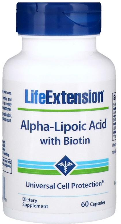 Life Extension Alpha-Lipoic Acid with Biotin - 60 caps