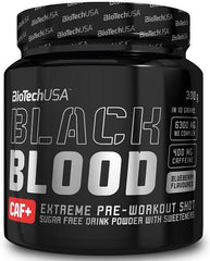 BioTechUSA Black Blood CAF+, Blueberry - 300 grams