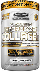 MuscleTech Platinum 100% Hydrolyzed Collagen, Unflavored - 692 grams