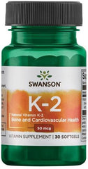 Swanson Vitamin K-2 - Natural, 50mcg - 30 softgels