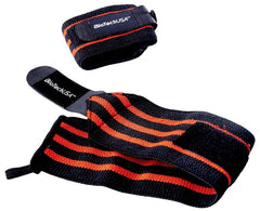 BioTechUSA Bedford 8 Wrist Wrap, Black Red - 35cm