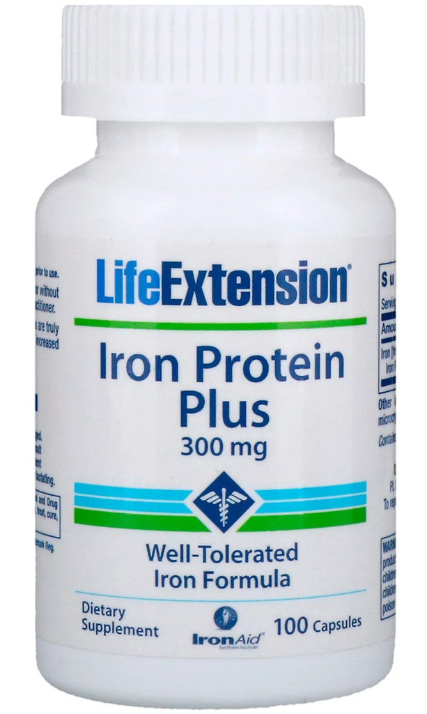 Life Extension Iron Protein Plus, 300mg - 100 caps