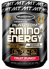 MuscleTech Platinum Amino + Energy, Fruit Punch - 295 grams