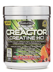 MuscleTech Creactor, Fruit Punch Extreme - 269 grams