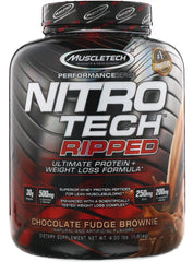 MuscleTech Nitro-Tech Ripped, Chocolate Fudge Brownie - 1810 grams
