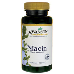 Swanson Niacin, 100mg - 250 tablets