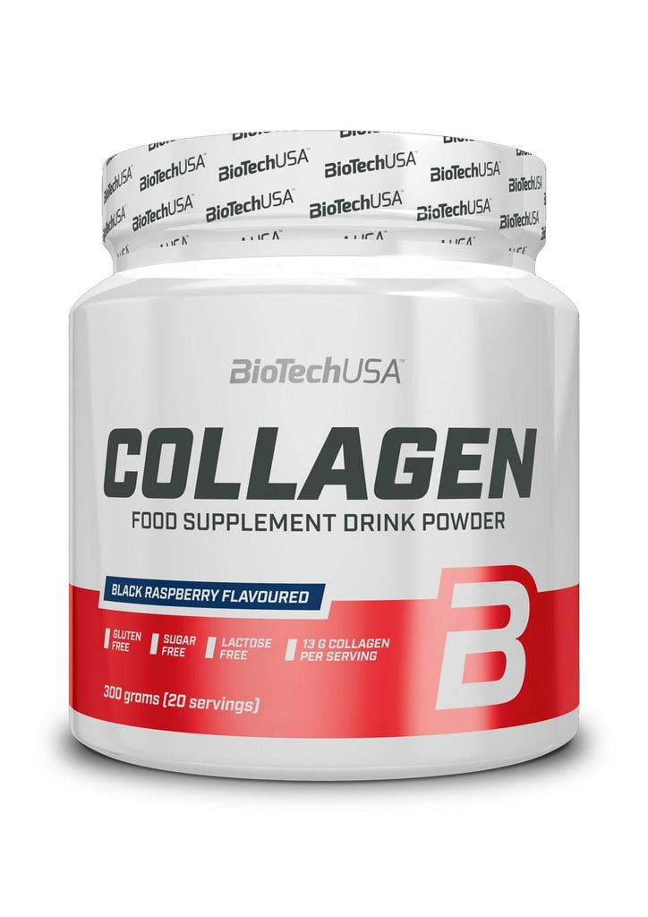 BioTechUSA Collagen, Black Raspberry - 300 grams