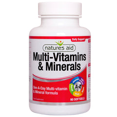 Natures Aid Multi-Vitamins & Minerals (with iron) 90's