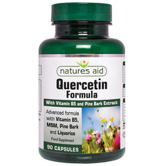 Natures Aid Quercetin Formula with Vitamin B5 and Pine Bark Extract 90's