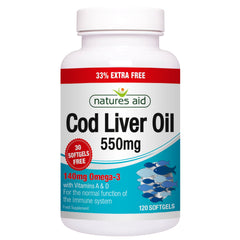Natures Aid Cod Liver Oil  550mg 120's