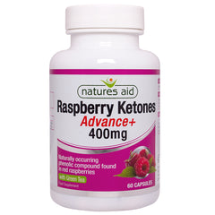 Natures Aid Raspberry Ketones Advance + Green Tea 400mg 60's