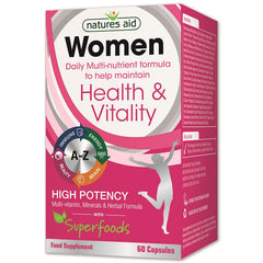 Natures Aid Women Multi-Vitamin, Minerals & Herbal Formula with Superfoods 60's