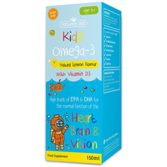 Natures Aid Kidz Omega-3 Natural Lemon Flavour 150ml