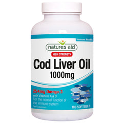 Natures Aid Cod Liver Oil 1000mg 180's