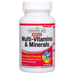 Natures Aid Complete Multi-vitamins & Minerals 90's