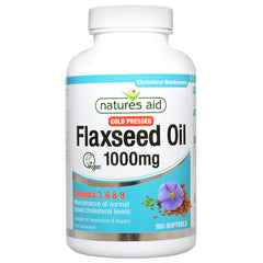 Natures Aid Cold Pressed Flaxseed Oil 1000mg (Omega 3, 6 + 9) 180's