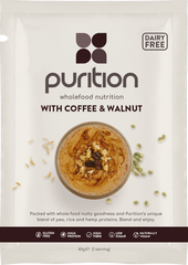 Purition Wholefood Nutrition With Coffee & Walnut DAIRY FREE CASE 8 x 40g